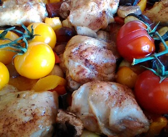 Spanish Chicken Tray Bake - Family Favourites