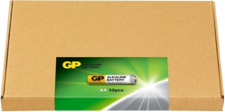 GP E-BOX Alk. AA-batteri 32-pack