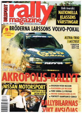 Bilsport rally magazine 1994 nr 4
