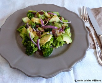Salade de brocoli, pomme, avocat et sa vinaigrette acidulée / Broccoli, apple and avocado salad and its acid dressing