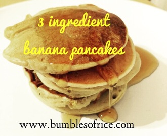 Banana Pancakes with Three Ingredients