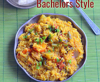 Easy Sambar Sadam – Bachelors Style Sambar Rice Recipe