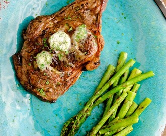 Grilled Rib Eye with Herb Butter