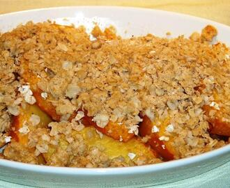 Easy and Quick Peach Crisp