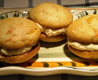 Carrot Cake Whoopie Pies with Cinnamon Cream Filling