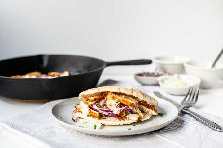 Oven baked chicken shawarma