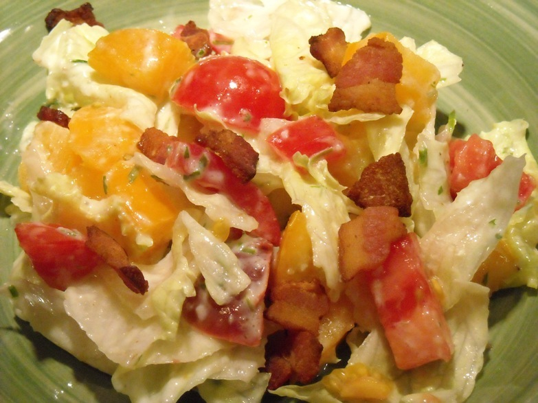 BLT Salad with Homemade Buttermilk Dressing