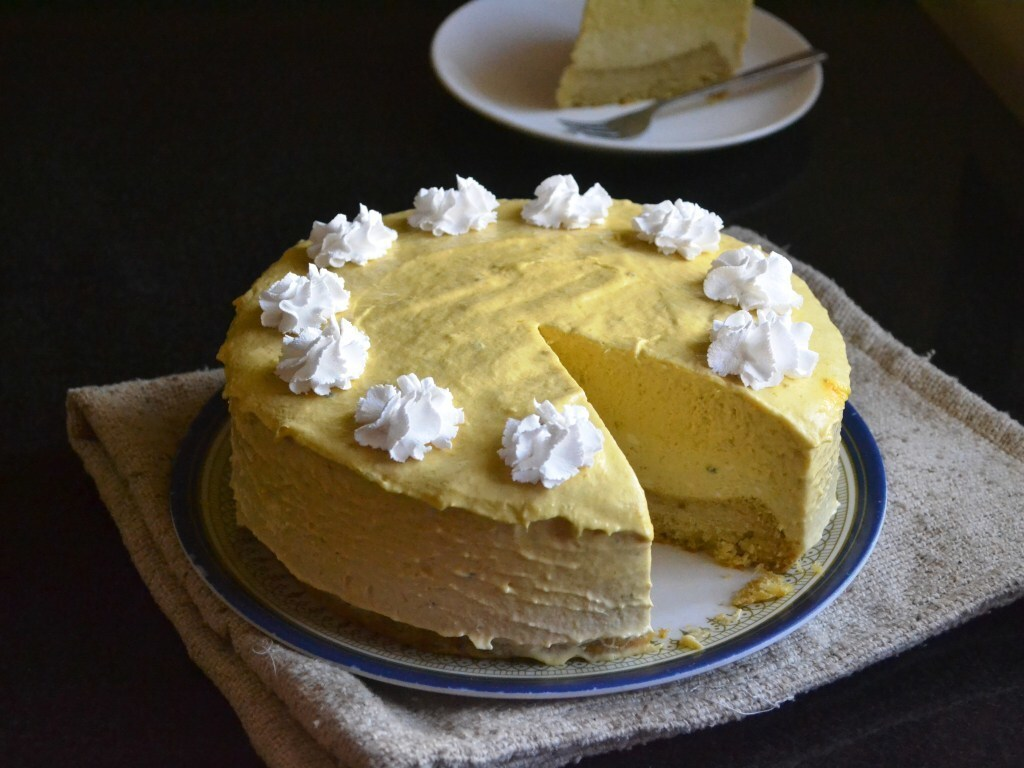 Egg Free Gelatin Free Mango Mousse Cake – Video Recipe