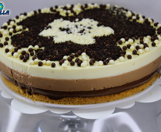 Tarta tres chocolates Thermomix