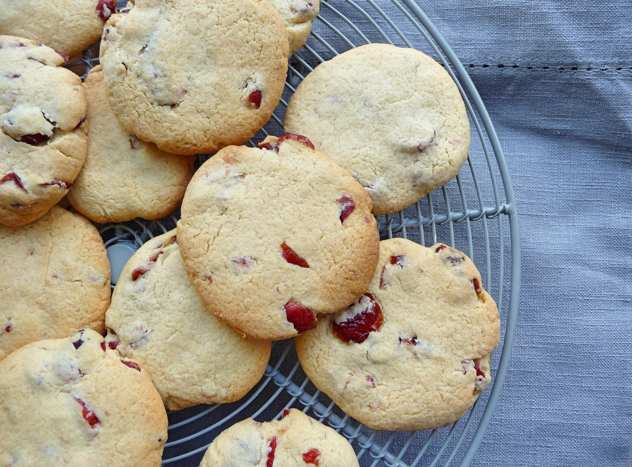 Cranberry and citrus cookies and an 80th birthday cake.