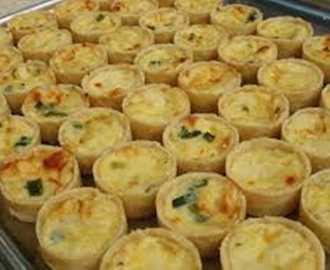 Mini Quiche de Bacalhau