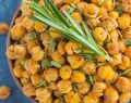 Roasted Parmesan Herb Chickpeas