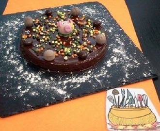 Tarta de frutos secos al chocolate