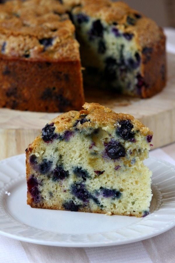 Warm and Soft Buttermilk Blueberry Cake Recipe