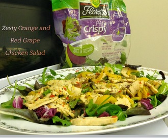 Zesty Orange and Red Grape Chicken Salad