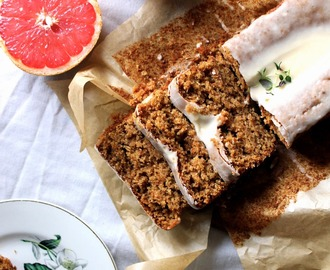 Grapefruit and Thyme Wholewheat Spelt Loaf Cake {Happy New Year} {Vegan}