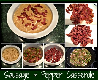 Recipe:  Sausage and Pepper Casserole
