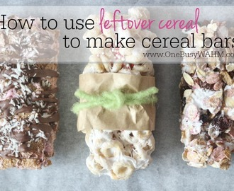 How To Make Your Own Cereal Bars – using up cereal leftovers