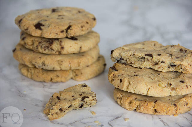 Amandelmeel chocolate chip cookies