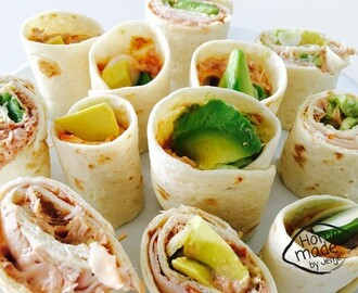 Wraps met avocado en tonijn