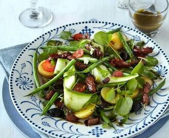 Hot Bacon & French Bean Salad