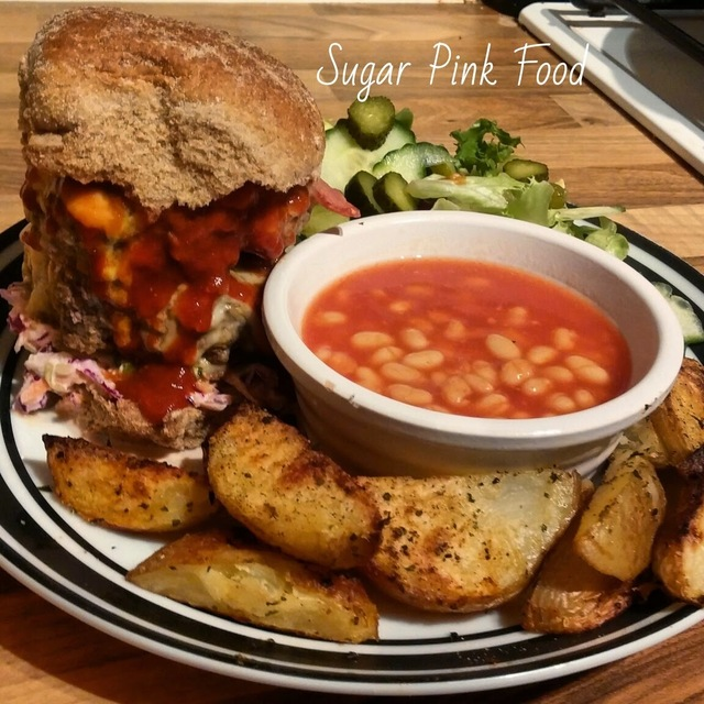 Slimming World Recipe:- Double Texas BBQ Burger