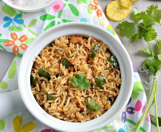 Capsicum Rice - No onion and Garlic Version