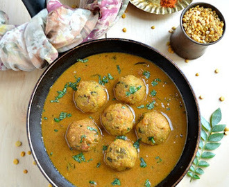 Paruppu Urundai Kulambhu/Lentils Ball in Tamarind and Coconut Sauce ~ Tamizhar Samayal Tuesday
