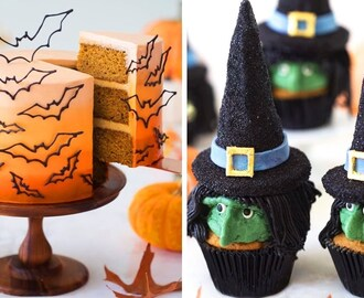 Witch Cupcakes & Halloween Bat Cake 🦇🧙 Halloween Cakes 🎃 Amazing Cake Decorating Ideas (Oct) #12