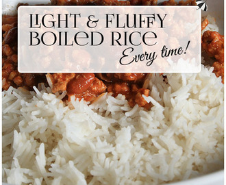 How to cook perfect rice - EVERY TIME!
