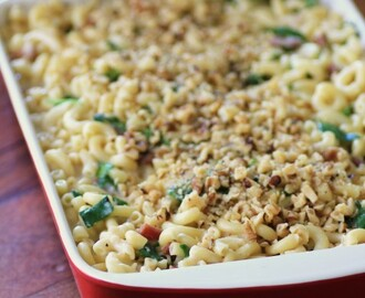 Spinach Proscuitto Macaroni and Cheese for #SundaySupper