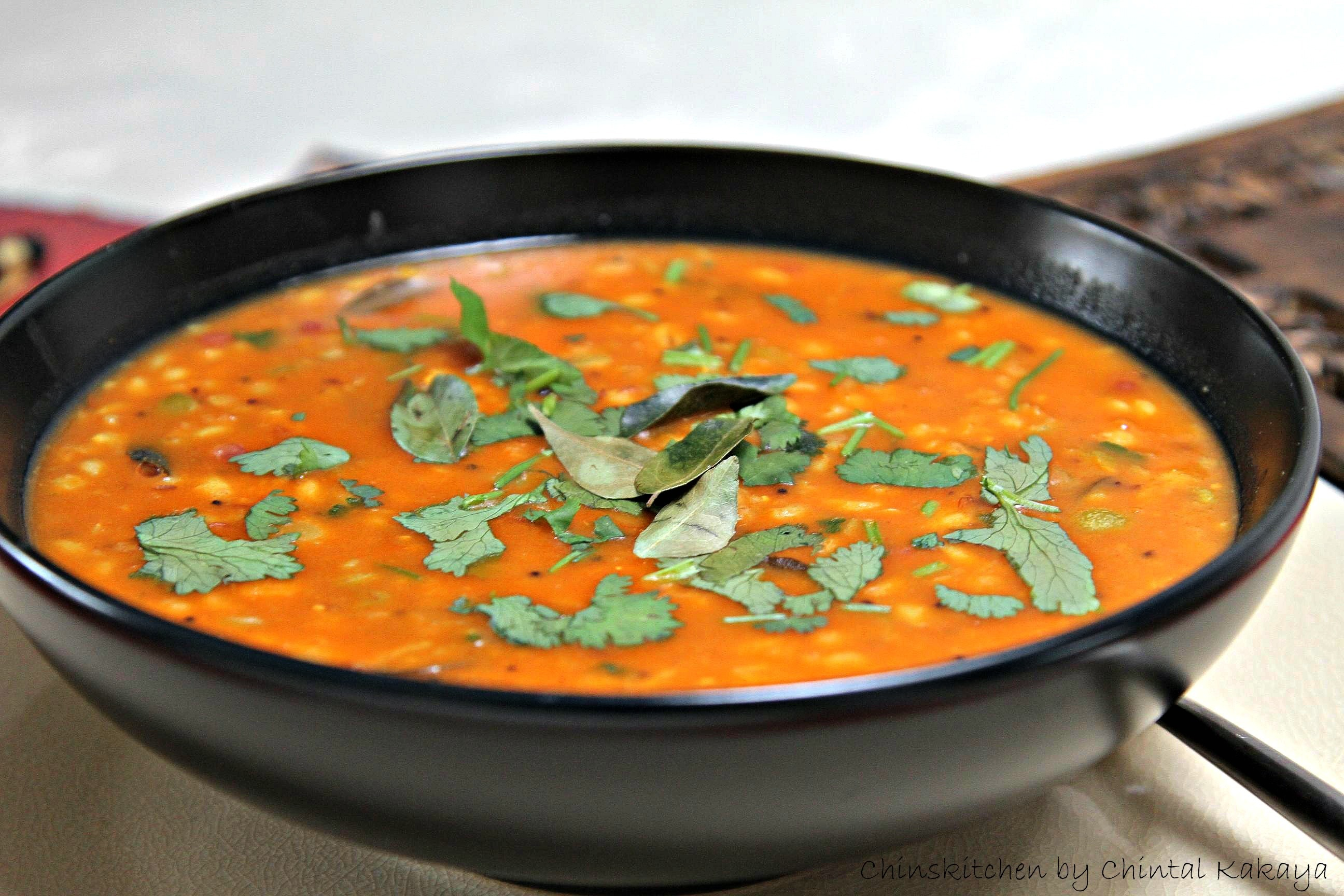 Gujarati Spiced Thick Country Soup- Vegan, Dairy Free, Sugar Free, Low oil