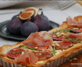 Tart with fresh Figs and Prosciutto - Schinken-Feigen-Tarte