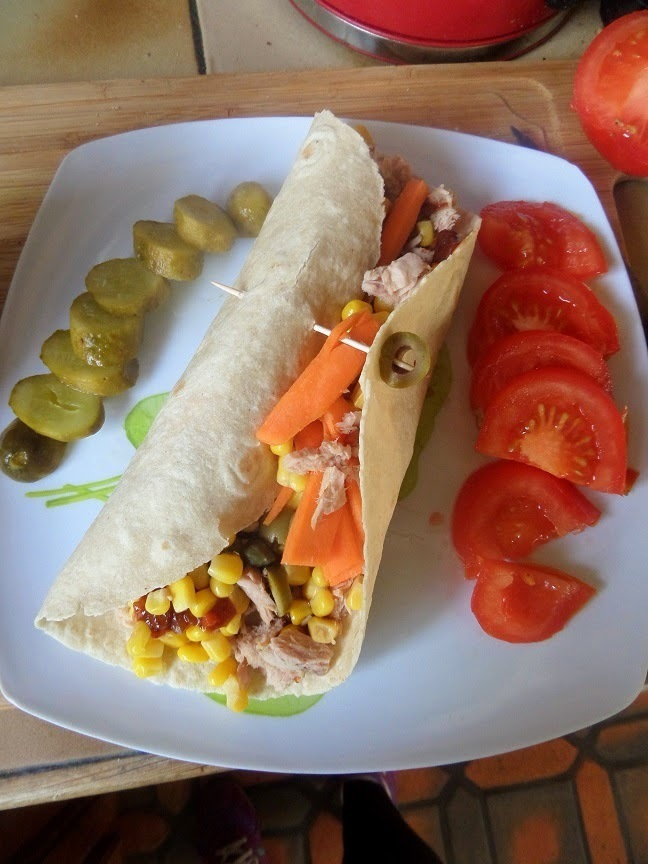 Healthy lunch idea : Tuna & Veg Wrap