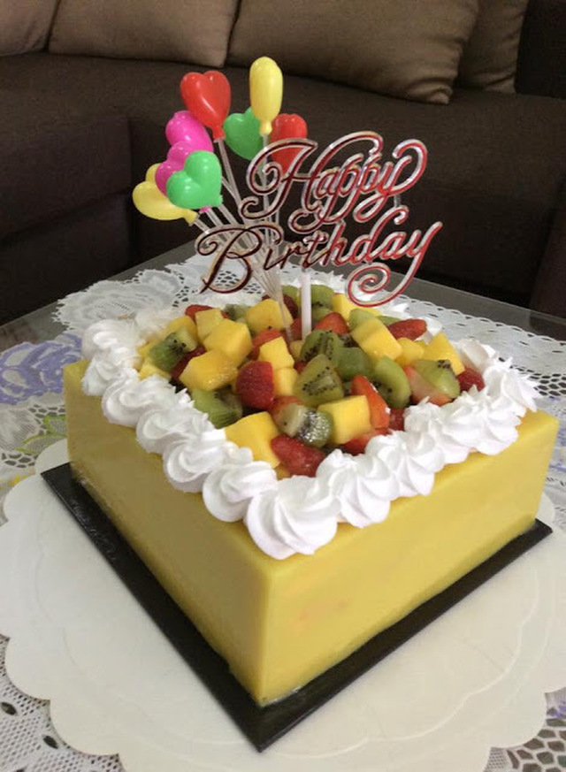 ~~~ Corn & Fresh Fruits Layer Birthday Cake ~~~ ~~  玉米&水果千层生日蛋糕 ~~