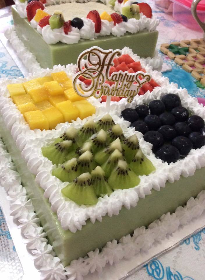 ~ Fruity Pandan Layer Cake 水果香兰千层蛋糕~
