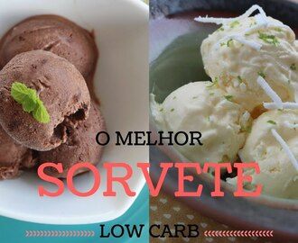 Sorvete saudável e low carb