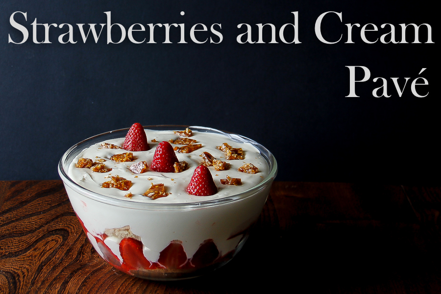 Wimbledon season: Strawberries and Cream Pavé, Brazilian recipe