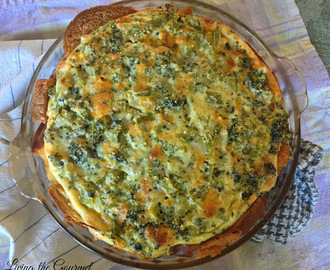 Simple Broccoli Cheddar Quiche