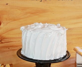 Lemon Meringue Layer Cake - Pastel de limón y merengue