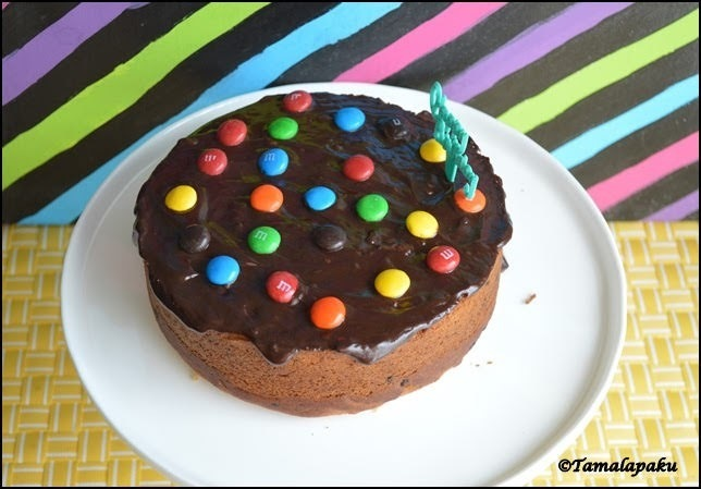 Eggless Chocolate Chip Date Cake
