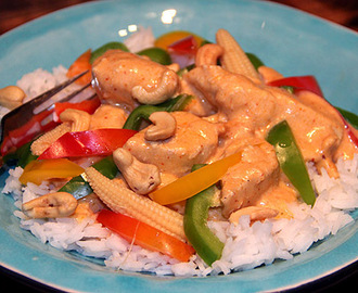 Thai red curry kycklinggryta