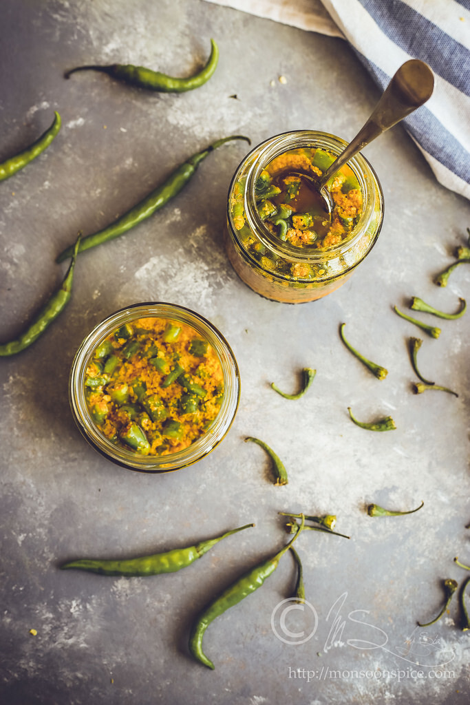 Green Chilli Pickle Recipe | How to make Hari Mirch ka Achar (Video Tutorial/Recipe)