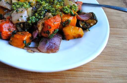 Pesto Roasted Veggies