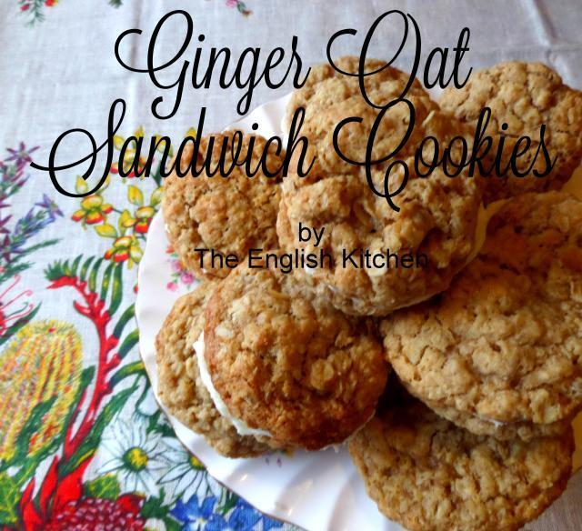 Lime Filled Ginger Oat Biscuits/Cookies