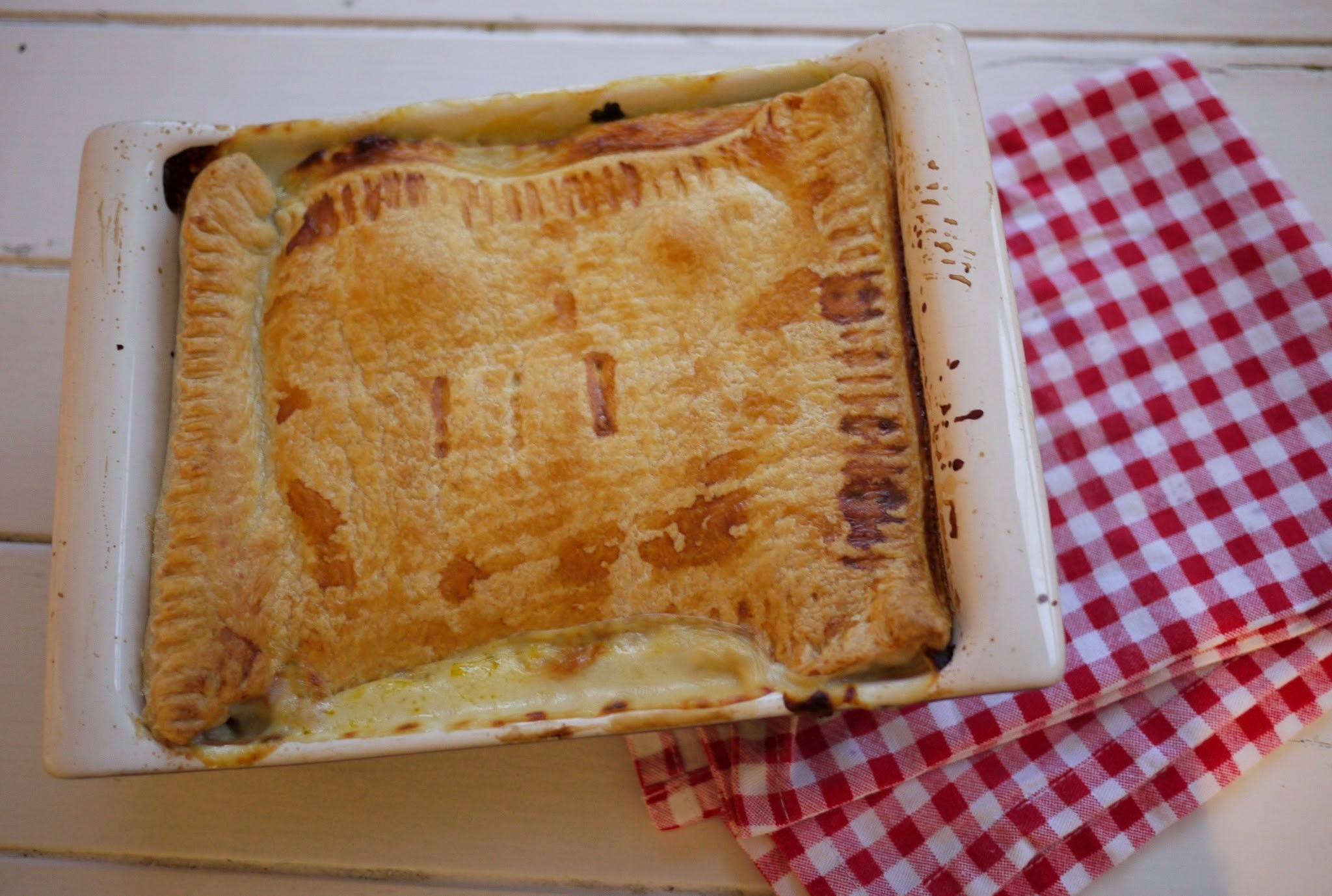 Chicken, Bacon and Mushroom Winter Warmer Pie