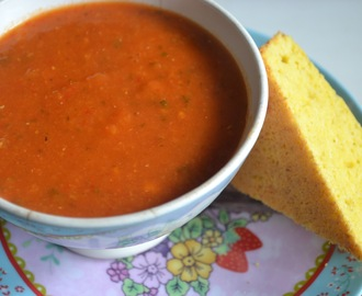 Paprika zoete aardappel linzensoep – red peppers sweet potato lentil soup (GF-DF-SF-V)