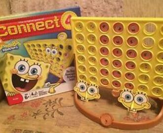 Bild: Connect 4 SpongeBob Squarepants Game MB Games 6+ Hasbro | eBay