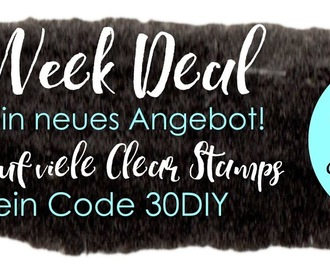 Black Week Deal -30% auf viele Clear Stamps