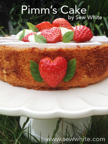 Pimm's Cake – delicious and perfect for afternoon tea.